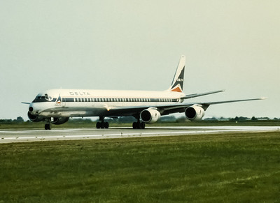 Delta Airlines, Douglas DC-8, Photo by John Miller Jr, DAY, Image B001LGJJ
