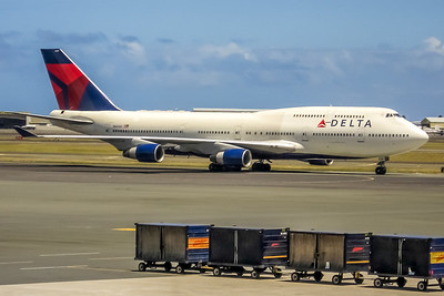 Delta Air Lines, N661US, Boeing 747-451, msn 23719, Photo by John A Miller, HNL, Image M085RGJM