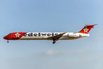 Edelwise Airlines, HB-IKP, McDonnell Douglas MD-83, msn 49629, Photo by Photo Enrichments Collection, Image D092LAJC