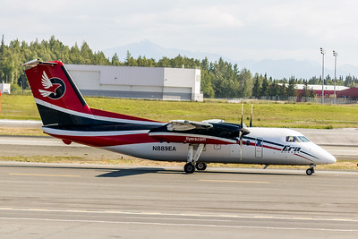 Era Alaska Airlines, N889EA, De Havilland DHC-8-106, msn 322, Photo by John A. Miller, ANC, Image QQ010RGJM