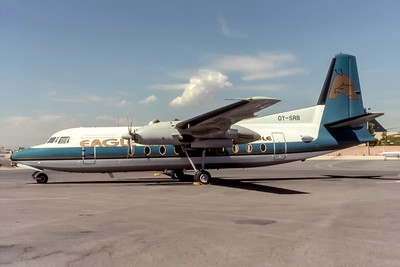 Eagle Airlines, OY-SRB, Fokker F27-600 Friendship, msn 10394 Photo by Eddy Gual Collection, Image E012LGEG