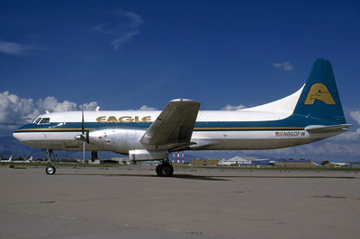 Eagle Airlines, N860FW, Convair CV-640, msn 10, Photo by Bob Shane, Image CV024LGBS