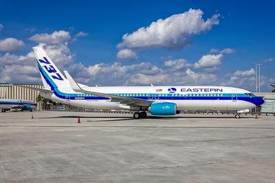 Eastern Airlines, N283EA, Boeing 737-8SH(WL), msn 42059, Photo by John A Miller, MIA, Image UU088RGJM