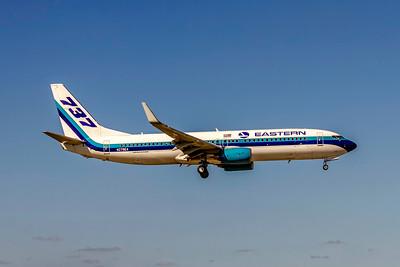 Eastern Airlines, N279EA, Boeing 737-86J(WL), msn 36881, Photo by John A Miller, MIA, Image UU086RAJM