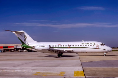 Emerald Air, N38641, Douglas DC-9-14, msn 47060, Photo by Adrian J Smith, ATL, Image C034RGAS