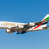 Emirates Airlines, A6-EOC, Airbus A380-861, msn 165, Photo by John A Miller, LAX, Image XA008LAJM