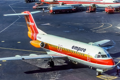Empire Airlines, N106UR, Fokker F28-4000, msn 11149, Photo by Adrian J. Smith, EWR, Image F008RGAS