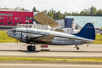 Everts Air Cargo, N7848B, Curtiss C-46R Commando, msn 273, Photo by John A. Miller, ANC, Image AJ001LGJM