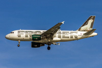 Frontier Airlines, Erma, N949FR, Airbus A319-112, msn 2857, Photo by John A Miller, TPA, Image AB059LAJM