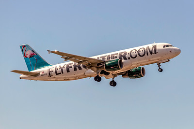 Frontier Airlines, Franceska the Flamingo, N223FR, Airbus A320-214, msn 2695, Photo by John A Miller, TPA, Image T176RAJM