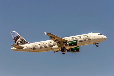 Frontier Airlines, Cliff the Mountain Goat,  N216FR, Airbus A320-214, msn 4745, Photo by John A Miller, TPA, Image T180RAJM