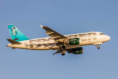 Frontier Airlines, Flip,  N927FR,  Airbus A319-111, msn 2209, Photo by John A Miller, TPA, Image AB066RAJM
