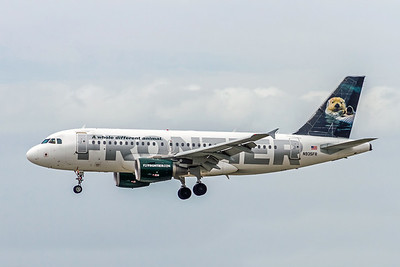 Frontier Airlines, Hector,  N935FR, Airbus A319-111, msn 2318, Photo by John A Miller, TPA, Image AB062LAJM
