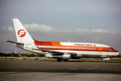 Frontier Airlines, N7343F, Boeing 737-291, msn 21748, Photo by John Stewart, Image J110RGJS