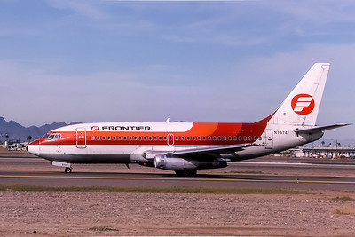 Frontier Airlines, N7374F, Boeing 737-291, msn 20362, Photo by Adrian J Smith, Image J032LGAS