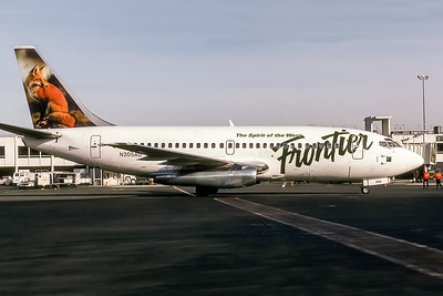 Frontier Airlines, N205AU, Boeing 737-201, msn 19421, Photo by Andrew Abshier, Image J075RGAA