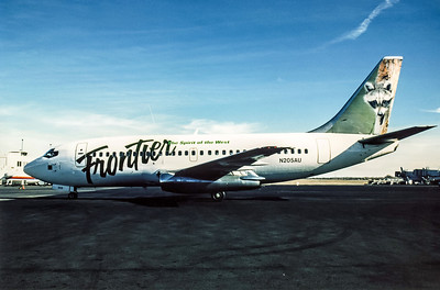 Frontier Airlines, N205AU, Boeing 737-201, msn 19421, Photo by Andrew Abshier, Image J074LGAA