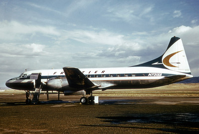 Frontier Airlines, N73155, Convair CV-580, msn 119, Photo by Dean Slaybaugh, Image CV009LGDS