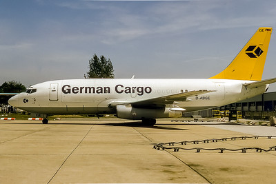 German Cargo, D-ABGE, Boeing 737-230C, msn 20257, Photo by Bjoern Kannengiesser, Image J057LGBK