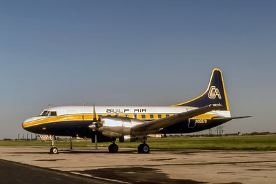 Gulf Air, N9067A, Convair CV340-54, msn 160, Photo by J. Fernandez Collection, Image CV034LGJF