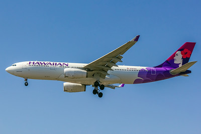 Hawaiian, N383HA, Airbus A330-243, msn 1217, Photo by John A Miller, LAX, Image WA004LAJM