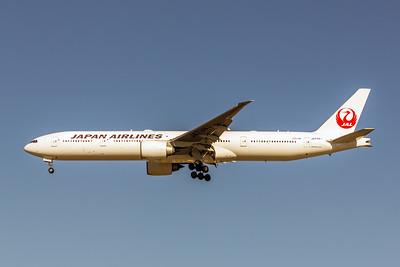 Japan Airlines, JA739J, Boeing 777-346(ER), msn 32437, Photo by John A Miller, LAX, Image PP031LAJM