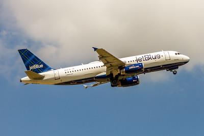 JetBlue, N516JB, Airbus A320-232, msn 132, Photo by John A Miller, TPA, Image T134RAJM