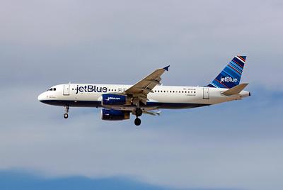 JetBlue, N591JB, Airbus A320-232, msn 2246, Photo by John A. Miller, LAS, Image T045LAJM