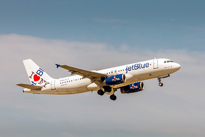 JetBlue Airways, N586JB, Airbus A320-232, msn 2160, Photo by John A Miller, TPA, Image T168RAJM, Special Paint Scheme