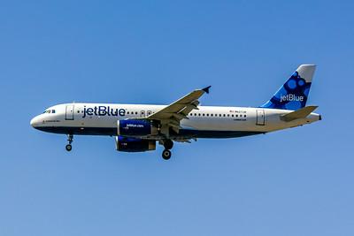 JetBlue, N627JB, Airbus A320-232, msn 2577, Photo by John A Miller, LAX, Image T078LAJM