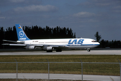 Lloyd Aereo, CP-1698, Boeing 707-323C, msn 19586, Photo by Brian Peters, MIA, Image H007RGBP