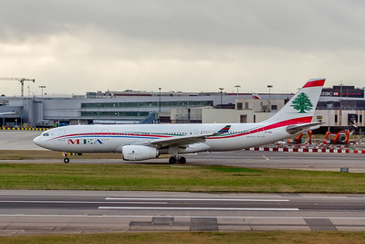 Middle East Airlines, OD-MEE, Airbus A330-243, msn 1725, Photo by John A Miller, LHR, Image WA011LGJM