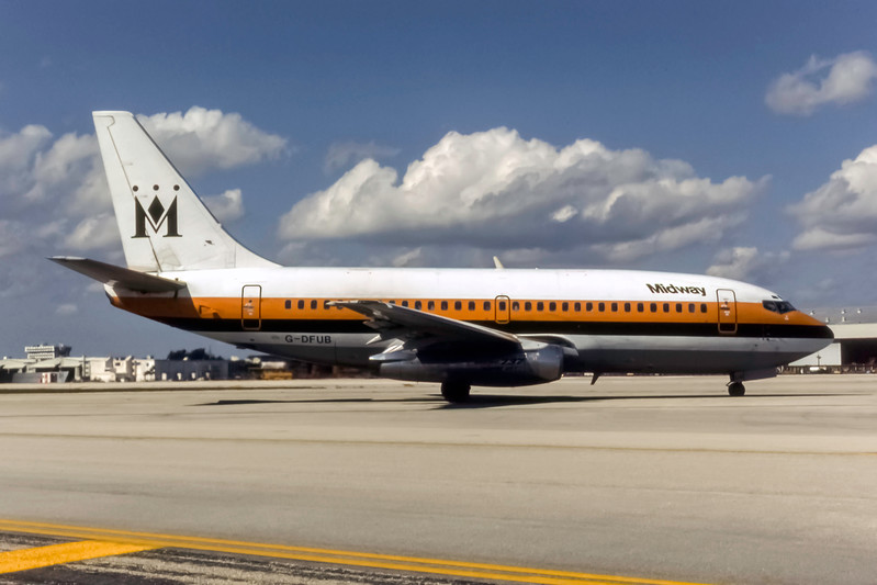 Midway, G-DFUB, Boeing 737-2K9(A), msn 22415, Photo by L Holden Collection, Image J175LGLH