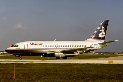 Midway Airlines, G-BJCT, Boeing 737-204(ADV), msn 22638, Photo by Nigel Chalcraft, Image J047LGNC