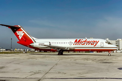Midway Airlines, N1070T, Douglas DC-9-15, msn 45784, Photo by Photo Enrichments Collection, Image C013RGJC