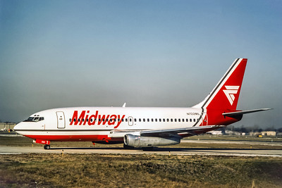 Midway Airlines, N722ML, Boeing 737-2T4Adv, msn 22698, Photo by Photo Enrichments Collection, Image J010LGJC