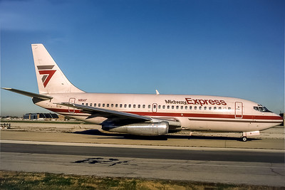 Midway Express, N81AF, Boeing 737-2T4(ADV), msn 22697, Photo by Photo Enrichments Collection,  Image J141RGJC