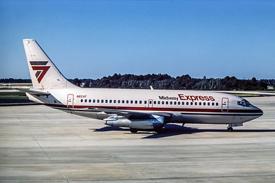 Midway Express, N82AF, Boeing 737-2T4Adv, msn 22698, Photo by Photo Enrichments Collection, Image J009RGJC