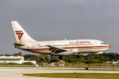 Midway Express, EI-BRN, Boeing 737-2T4(A), msn 22529, Photo by L Holden Collection, Image J176RALH