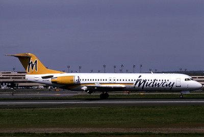 Midway Airlines, N131ML, Fokker F28-0100, msn 11323, Photo by John A. Miller, TPA, image G006RGJM
