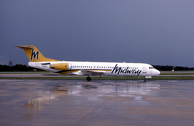 Midway Airlines, N105ML, Fokker F28-0100, msn 11475, Photo by John A. Miller, TPA, Image G009RGJM
