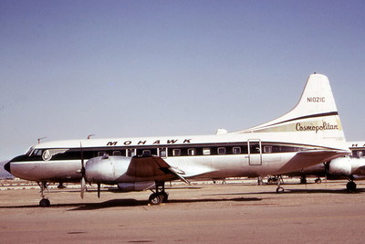 Mohawk Airlines, N1021C, Convair CV-240, Photo by Dean Slaybaugh, Image CV015LGDS