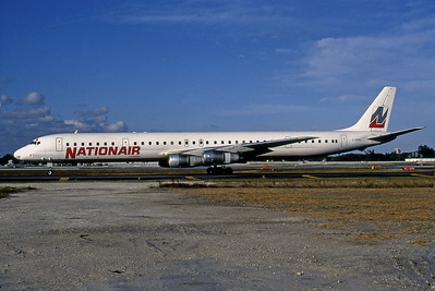 NationalAir Canada, C-GMXL, Douglas DC-8-61, msn 45981, Photo by Nigel Chalcraft, Image B012LGNC
