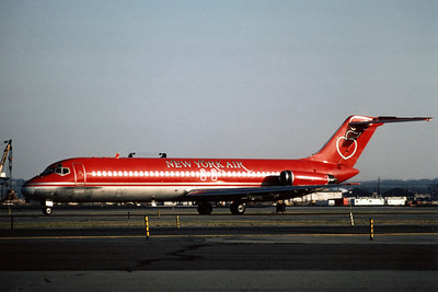 New York Air, N545NY, Douglas DC-9-32, msn 47094, Photo by Adrian J Smith, EWR, Image C027LGAS