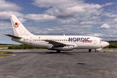 Nordic East, SE-DLP, Boeing 737-205, msn 19409, Photo by David Birtwell, Image J167RGDB