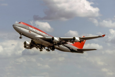 Northwest Airlines, N665US, Boeing 747-451, msn 23820, Photo by Photo Enrichments Collection, Image M108LAJC