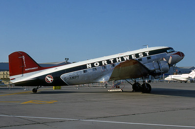 Northwest Airlines, G-AMPY, Douglas DC-47B, msn 15124, Photo by Adrian J. Smith, Image A006RGAS