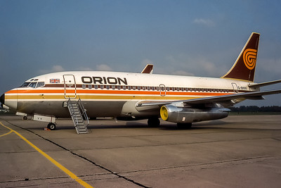 Orion Airways, G-BHVH, Boeing 737-2T5(ADV), msn 22396, Photo by Adrian Smith, RTM, Image J033LGAS