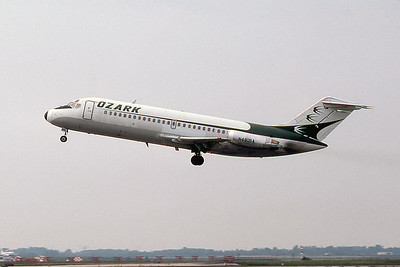 Ozark Airlines, N490SA, Douglas DC-9-15, msn 45798, Photo by Photo Enrichments Collection, ORD, Image C116LAJC