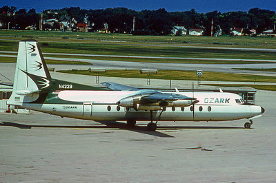 Ozark Airliines, N4229, Fokker F-227, Photo by Photo Enrichments Collection, Image E003RGJC